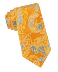 Ted Baker | Yellow Morris Paisley Silk Tie for Men | Lyst