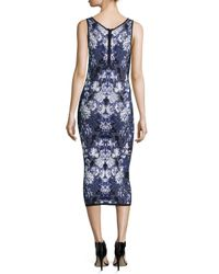 Nicole Miller Artelier | Multicolor Sleeveless Floral-knit Tank Dress | Lyst