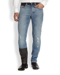 McQ - Blue Recycled Skinny Jeans for Men - Lyst