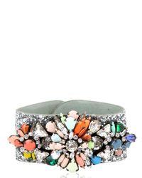 Shourouk | Multicolor Atari Cuff Glitter Jumble Bracelet | Lyst