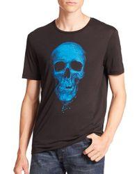 The Kooples - Black Skull Graphic Tee for Men - Lyst