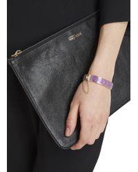 COACH | Gold Tone Purple Enamel Bracelet | Lyst