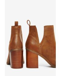 Nasty Gal | Lipstik Shoes Nerro Cutout Boot - Brown | Lyst
