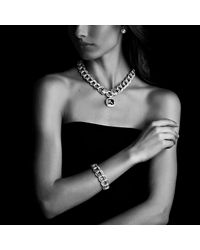 David Yurman - Metallic Albion Pendant With Diamonds, 17mm Gemstone - Lyst