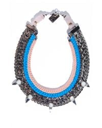 Lizzie Fortunato - Blue Excess And Elegance Necklace - Lyst