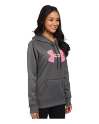 Under Armour | Gray Ua Storm Armour® Fleece Printed Big Logo Hoodie | Lyst