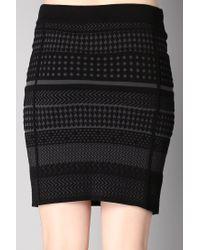 Ichi - Black Mini Skirt - Lyst