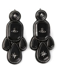 Vivienne Westwood - Black 'lakshmi' Earrings - Lyst