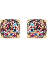 kate spade new york | Multicolor Small Square Studs | Lyst