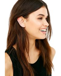 Urban Outfitters - Metallic Delicate Bar Ear Climber Cuff Earring - Lyst