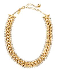 kate spade new york - Metallic Midnight Rendezvous Necklace Golden - Lyst
