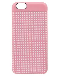 Marc By Marc Jacobs | Pink Windowpane Printed Iphone 6 Case | Lyst