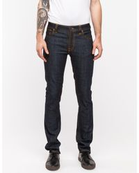 Nudie Jeans | Blue Thin Finn Organic Dry Twill for Men | Lyst