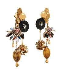 Vickisarge - Metallic Sylvia Crystal Charm Earrings - Lyst