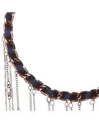 River Island | Metallic Dark Brown Fine Beaded Chain Necklace | Lyst