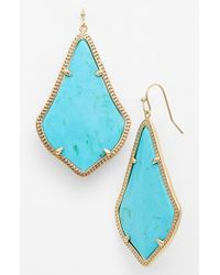 Kendra Scott | Blue 'alexandra' Large Drop Earrings - Turquoise Magnesite/ Gold | Lyst