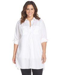 Caslon - White Two-pocket Tunic Shirt - Lyst