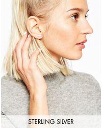 ASOS | Metallic Sterling Silver Graduated Bar Ear Crawler | Lyst