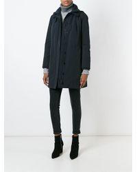 Aspesi - Blue Standing Collar Coat - Lyst