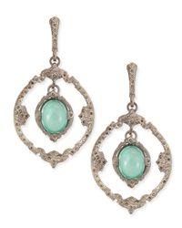 Armenta - Metallic New World Silver Iris Oval Drop Earrings - Lyst