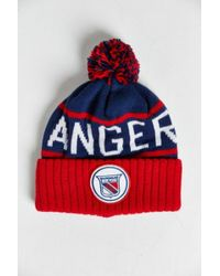 581f0ea6f99 Lyst - Mitchell   Ness Nhl New York Rangers High-five Cuff Beanie in ...