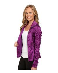 Asics - Purple Studio Fit Sana Ruched Jacket - Lyst