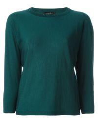Roberto Collina - Green Three-quarter Sleeve Sweater - Lyst