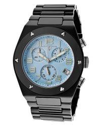 Swiss Legend - Men'S Throttle Chronograph Baby Blue Dial Black Ceramic for Men - Lyst