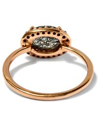 Anna Sheffield - Metallic Blackened Rutilated Quartz And Black Diamond Pavé Amulet Ring - Lyst