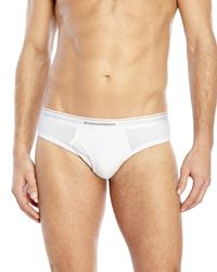 DSquared² | White Ribbed Stretch Briefs for Men | Lyst