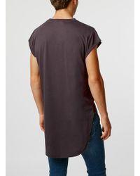 TOPMAN - Red Burgundy Cap Sleeve T-shirt for Men - Lyst