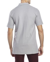 Psycho Bunny - Gray Classic Embroidered Polo for Men - Lyst