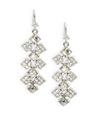 Lauren by Ralph Lauren | Metallic Glittering Crystal Chandelier Earrings | Lyst