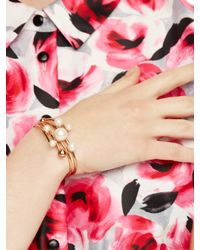 kate spade new york | Metallic Bits And Baubles Statement Cuff | Lyst