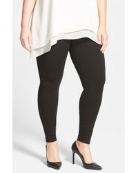 Lyssé | Black Seamed Ponte Knit Control Top Leggings | Lyst