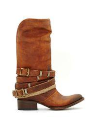 Nasty Gal | Brown Freebird Western World Boot | Lyst