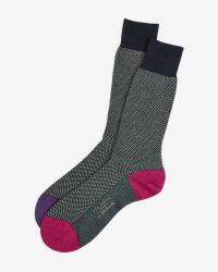 Ted Baker | Green Birdseye Stitch Wool Socks for Men | Lyst
