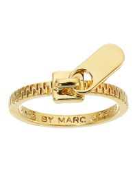 Marc By Marc Jacobs | Red Lost And Found Zipper Pull Ring | Lyst