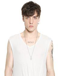 Tom Rebl - Metallic Lips Charm Necklace for Men - Lyst