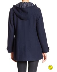 Banana Republic - Blue Factory Wool-blend Toggle Coat - Lyst