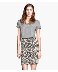 H&M | White Pencil Skirt | Lyst