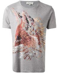 Paul & Joe - Gray Fox Print T-Shirt for Men - Lyst