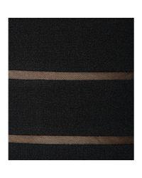 Oscar de la Renta - Black Wool-blend Dress - Lyst