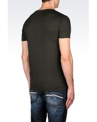 Armani Jeans - Green Print T-shirt for Men - Lyst