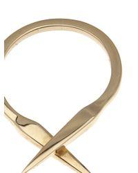 Luis Morais - Metallic Double Spike Ring - Lyst