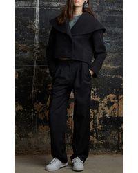 Rosie Assoulin | Black Enamel Single Flower Earring | Lyst