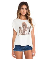 Wildfox - White Beggers Tee - Lyst