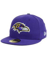 KTZ - Purple Kids' Baltimore Ravens Thanksgiving On-Field Reflective 59Fifty Cap for Men - Lyst