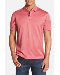 Robert Graham | Pink 'mahalo' Short Sleeve Polo for Men | Lyst