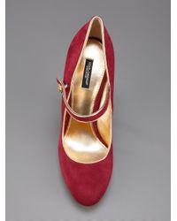 Dolce & Gabbana   Red Midheel Buckle Pump   Lyst